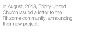 Letter from Trinity United Church